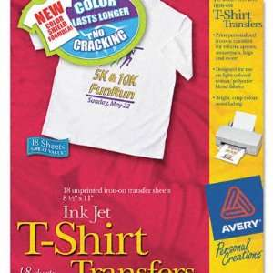 Personal Creations Ink Jet White/Light T Shirt Transfer Sheets   White