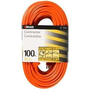 Woods 518 10/3 Heavy Duty Outdoor Extension Cord, Orange