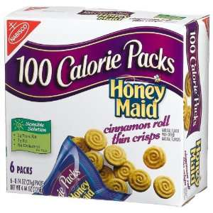100 Calorie Packs Honey Maid Cinnamon Roll Thin Crisps, 6 Count