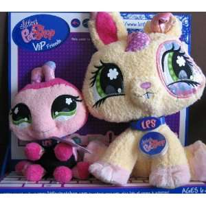 Littlest Pet Shop VIP Friends BUNNY & LADY BUG Plush