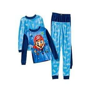 NWT Nintendo Wii Super Mario Galaxy Pajama 4 Pc Set Sz 4