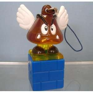 Nintendo Super Mario Galaxy Light Up Cell Strap Keychain Figure Winged