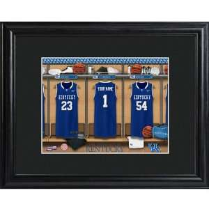 Kentucky Wildcats Personalized College Basketball Locker Room Print
