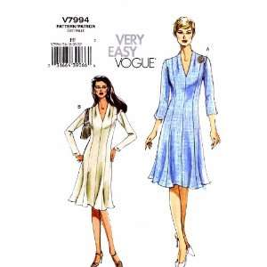 Vogue 7994 Sewing Pattern Womens Close Fitting Dress Full Figure Size