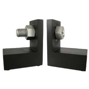Black / Silver Nut And Bolt Bookends Book Ends Home