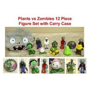 Plants vs Zombies 12 Piece Figure Set with Zombie Carrying