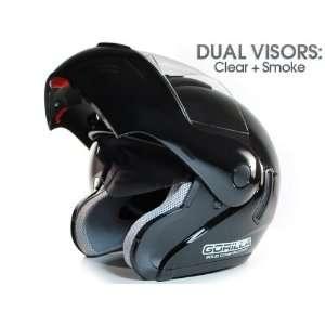 DOT APPROVED   MOTORCYCLE FLIP UP MODULAR HELMET DUAL VISOR (CLEAR