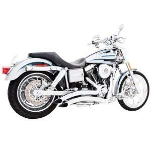 Curve Radius Chrome Exhaust for 1986 2011 Harley Davidson Softail