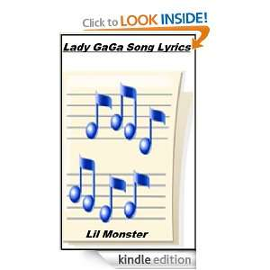 Lady GaGa Song Lyrics Lil Monster  Kindle Store