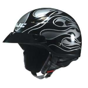 HJC CL 21M Reign MC 5 Open Face Motorcycle Helmet Black/Silver/Silver