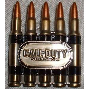 CALL OF DUTY World at War Metal Bullets Belt BUCKLE