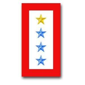 United States Army  One Gold Star and Three Blue Stars  Service Flag
