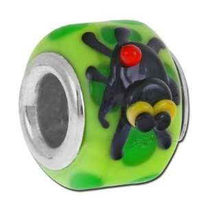 Handmade Spider Barrel Lampwork Large Hole Beads Arts