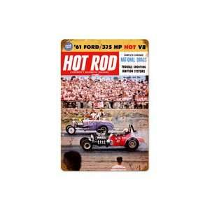 Hot Rod National Drags December 1960 Metal Sign