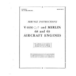 Merlin 1650  3   7 Aircraft Engine Service Manual Rolls Royce Books
