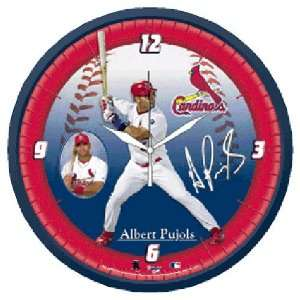 St. Louis Cardinals Albert Puljos Wall Clock Sports