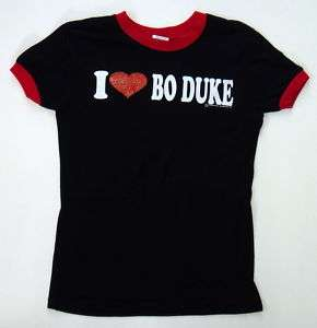 DUKES of HAZZARD: I Love Bo Duke Womens T.Shirt NEW