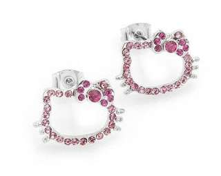 Hello Kitty Earrings / Jewelry / Accessory  Pink Face