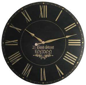 Large Wall Clock 24 Antique Gallery Black Big London