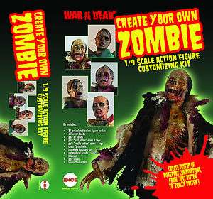 Your Own Zombie Action Figure Set   EMCEE Toys Custom War of the Dead