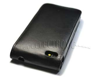 New Black Flip Leather Hard Case Cover for iPhone 4 4G