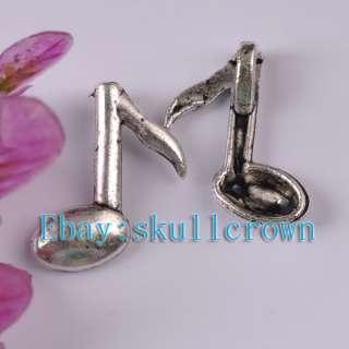 FREE SHIP 20pcs Tibetan Silver Music Note Charm LP5721