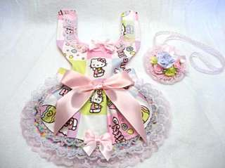 HELLO KITTY EASTER DRESS W/FLORAL HAT NEW DOG CLOTHES PET APPAREL