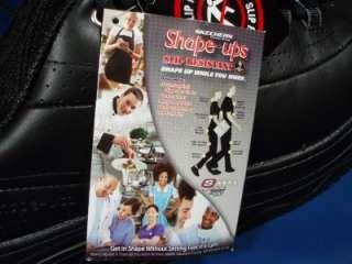 Womens SKECHERS WORK SHAPE UPS SR Black Leather Walking Shoes 9 1/2