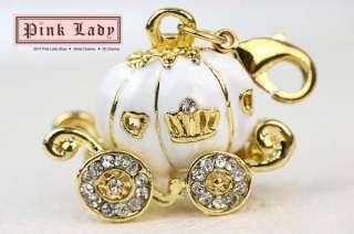 J05 Cute Pumpk Princess Carriage Charm Pendant (1piece)