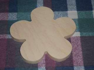 wooden FLOWER plaque Childrens Shapes Crafts Kids Room Decor