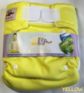 NEW 5 Velcro Baby Cloth diapers nappies+10 Inserts