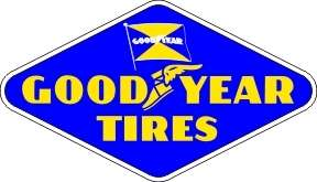 Vintage Good Year Tires sticker decal sign 4x2.3