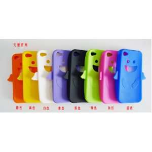 Silicone Soft Back Angel Cover Case Skin for Apple Iphone 4s 4 4g 4gs