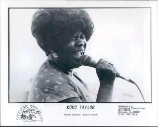 1988 Singer Koko Taylor Alligator Records Publicity St