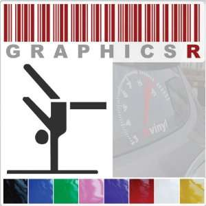 Sticker Decal Graphic   Gymnastics Gymnist Olympic Sport Stick Figure