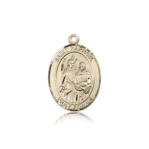 14kt Gold St. Saint Raphael the Archangel Medal 1 x 3/4 Inches 7092KT