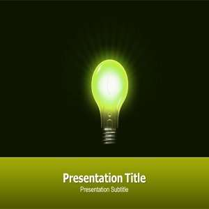 for Save Electricity  Power Saving Powerpoint Template: Software