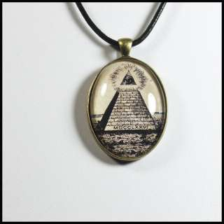 ILLUMINATI EYE OF PROVIDENCE PYRAMID Pendant Necklace