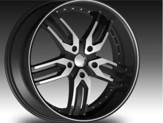 22 F5 125 BLACK & POLISH RIMS AND TIRES CHRYSLER 300