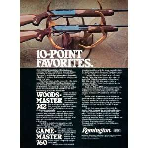 1979 Ad Remington Du Pont Woodsmaster 742 Gamemaster 760