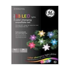 Snowflake Set of 18 LED Light Show Christmas Lights