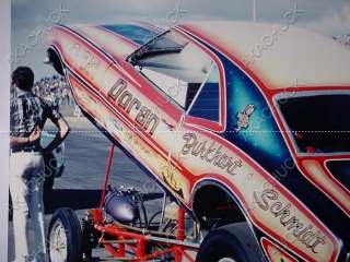 Camaro RACING PHOTO NHRA FUNNY CAR Mike Burkhart OCIR DRAG MEET
