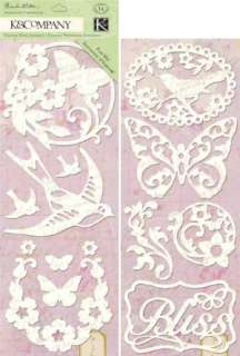 Flora & Fauna Adhesive Chipboard Silhouettes by K