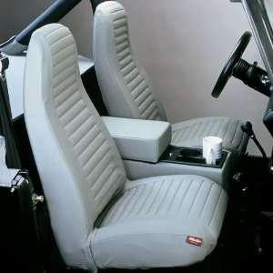 15 Jeep Wrangler Front Seat Covers   YJ   Black Denim Automotive