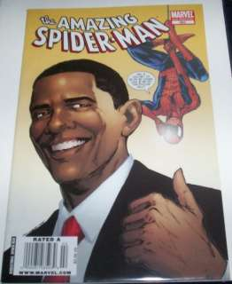THE AMAZING SPIDER MAN COMIC #583 PRESIDENT BARACK OBAMA COVER 2ND