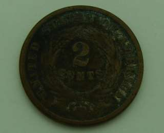 have for sale a 1864 US 2 Cent Copper Coin which has been in