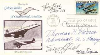 CHUCK YEAGER   FIRST DAY COVER SIGNED