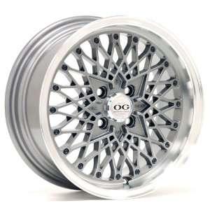 15x7 Axis Og San (Graphite w/ Machine Polished Lip) Wheels/Rims 4x100