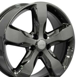 2011 Jeep Grand Cherokee OEM Wheels Rims Black Chrome 20x8
