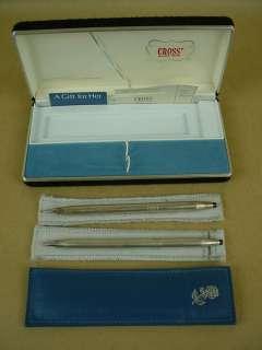 Cross Sterling Pen & Pencil Beautiful Vintage Sterling Silver Set w